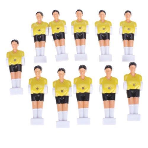 11pcs Hombre Futbolín Mesa De Chicos Hombre Jugador De Fútbol Parte - Yellow Genérico