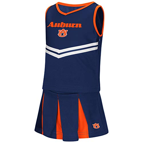 Colosseum NCAA Toddler-Girls Team Cheer Set-Auburn Tigers-2T