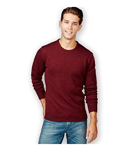 (American Rag Mens Ribbed Trim Crew Neck Pullover Sweater Purple XXL)