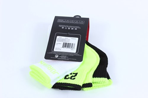 Nike Air Jordan Boys 3 Pair Quarter Socks Size 5-7 10C -3Y by NIKE