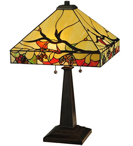 Stained Glass Woodland Berries Table Lamp Shade