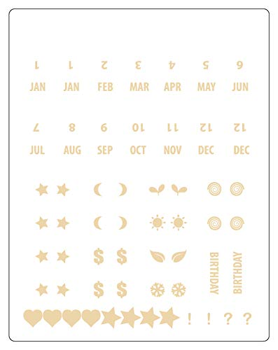 Monthly dividers Planner Divider tabs Aura Estelle Monthly tabs Adhesive tabs DIY tabs Index tabs Bullet Journal tabs Journal tabs Calendar Index tabs Divider tabs