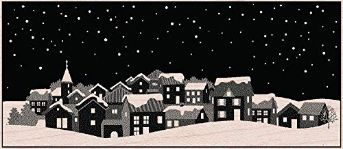 Hero Arts Rubber Stamps Winter Town Woodblock Stamp