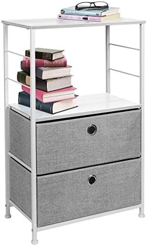 picture of Sorbus Nightstand 2-Drawer Shelf Storage » Bedside Furniture & Accent End