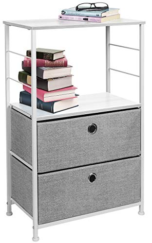 Sorbus Nightstand 2-Drawer Shelf Storage – Bedside Furniture & Accent End Table Chest for Home, Bedroom, Office, College…