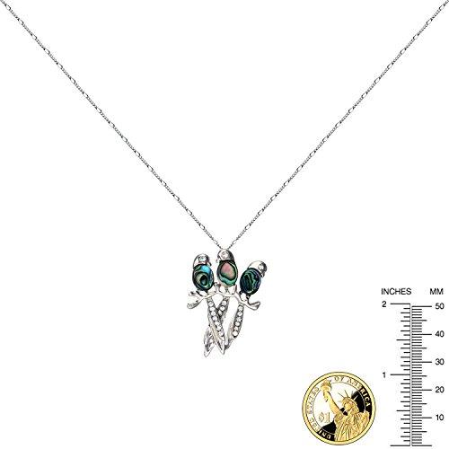 Gazouillis Oiseaux trois sœurs Ormeau Collier Pendentif Cadeau pour femmes adolescents