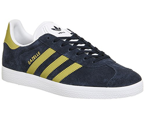 adidas Gazelle, Chaussures de Fitness Homme, Rouge, 41 EU Multicolore - bleu marine/doré/blanc (Maruni / Dormet / Ftwbla)