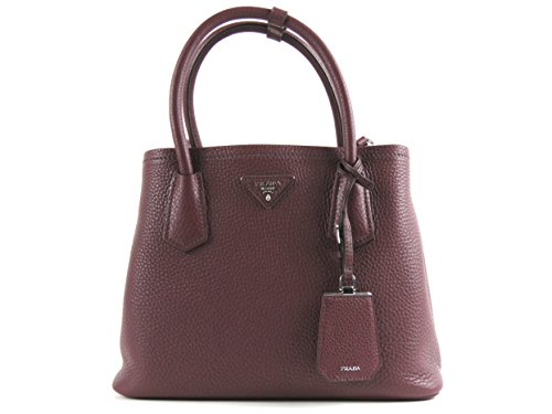 Prada Vitello Daino Shopping Granato Scarlat 1bg009 - Prada Bag Shopping