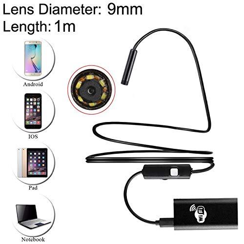 Photo de MPX HD caméra sans fil de Wifi de 30mètres de Distance résistant à l'eau ipx67caméra d'inspection de tube de Serpent avec 6LED pour Android et iOS, longueur: 1m, diamètre de la len
