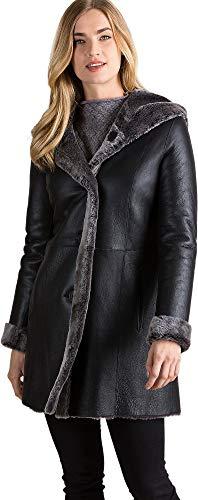 - Joanne Hooded Reversible Spanish Merino Sheepskin Coat