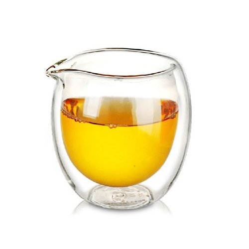 Double Gong (Top Grade Double Wall Clear Glass Cha Hai Tea Pitcher)