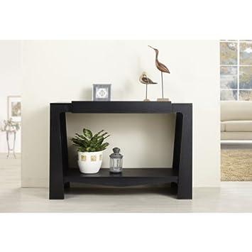 Amazon.com: Negro manera moderna salón-entry mesa consola ...