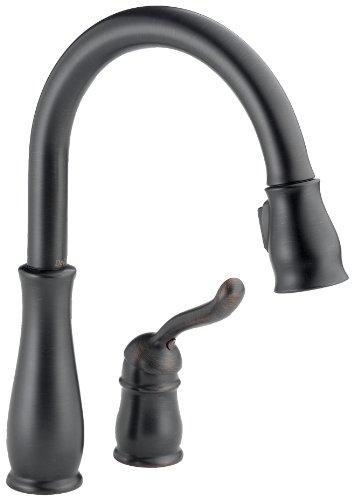 (Delta 978-RBWE-DST Leland Single Handle Water Efficient Pull-Down Kitchen Faucet, Venetian Bronze)