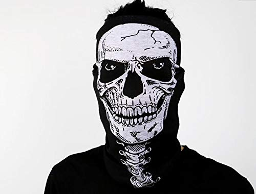 Skeleton Mask - 500pcs Halloween Skull Skeleton Mask Outdoor Motorcycle Bicycle Multi Function Scarf Half Face Masks - Mask Ghost Skull Scarf Skeleton