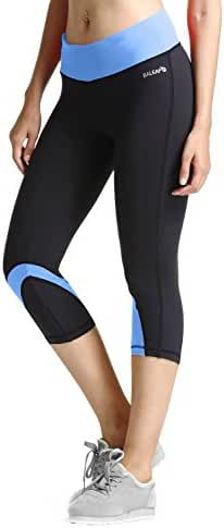 Baleaf Women's Yoga Running Workout Capri Legging Hidden Pocket