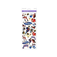 Forever In Time Clear Sticker, Hockey Heaven, 4.75-Inch x 12-Inch