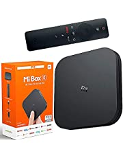 Mi Box S, Smart TV Box, Intelligent 4K Ultra HD Media Player, work with Projector, TVs & Mobile Phones, powered by Android 8.1, International Version Black, LOQZ-87