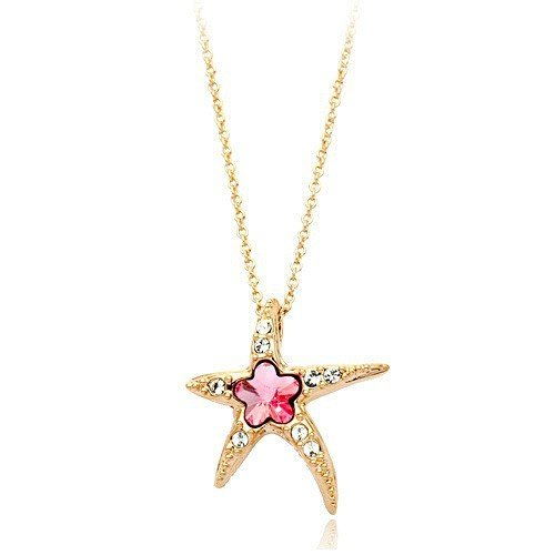 Hot Sale Genuine Austrian Crystal Starfish Pendant Necklace With Austrian Crystal Stellux Top Quality (Starfish Austrian Crystal)