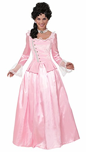Forum Women's Colonial Maiden Corset-Style Dress, Pink, (Colonial Womans Costumes)