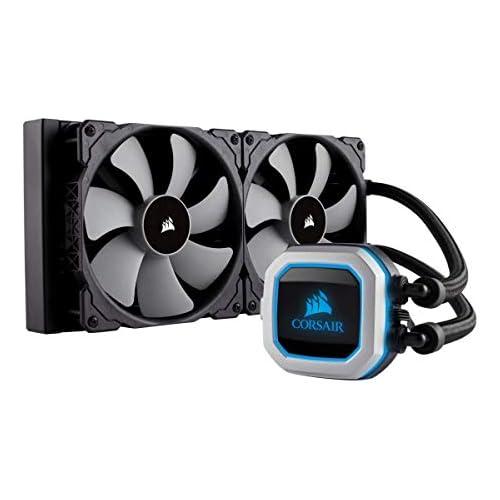 chollos oferta descuentos barato Corsair Hydro Series H115i Pro Refrigerador líquido de CPU Radiador de 280 mm dos ventiladores PWM de 140 mm Serie ML Iluminación RGB compatible con Intel 115x 2066 y AMD AM4 negro