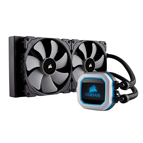 - CORSAIR HYDRO Series H115i PRO RGB AIO Liquid CPU Cooler,280mm, Dual ML140 PWM Fans, Intel 115x/2066, AMD AM4