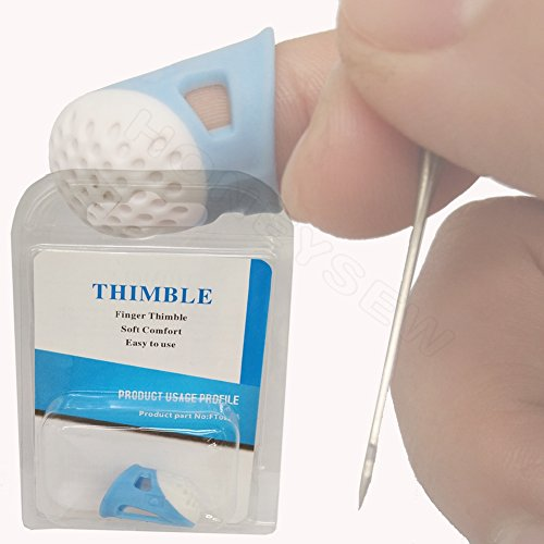 HONEYSEW Soft Comfort Thimble Two Size For Choose (Small Size) (Thimble Small)
