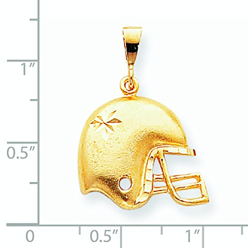 10 k Casque de FOOTBALL de qualité supérieure-Or Or 9 Carats JewelryWeb que