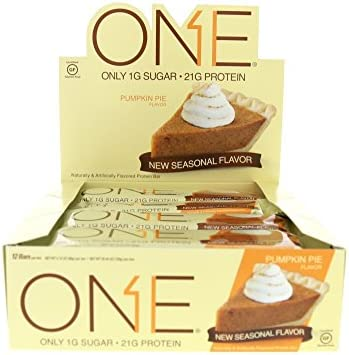 ISS Research Oh Yeah One Bar, Pumpkin Pie, 12 Count