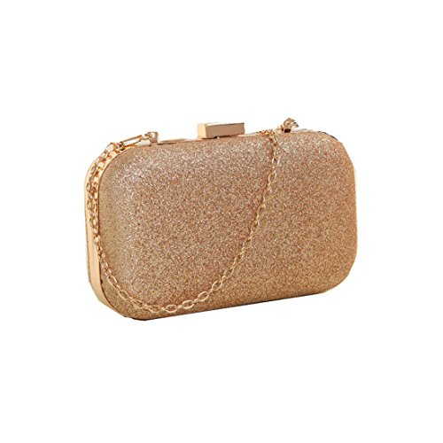 Chain Elegant Womens Evening Hasp Voberry Gold Cocktail Bag Clutch Glitter C1qxnTTPwR