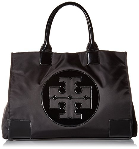 Tory Burch Womens Black Nylon Ella Tote Bag 45207-001 from Tory Burch