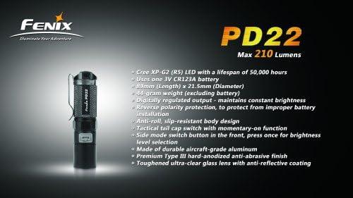 Erwachsene LR40R Taschenlampe Schawarz Fenix Unisex/ 10
