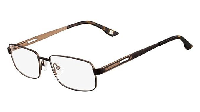 MARCHON Eyeglasses M-FULTON 210 Satin Brown 54MM at Amazon Men\'s ...