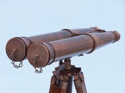 Hampton Nautical  Floor Standing Admiral's Antique Copper Binoculars, 62'' by Hampton Nautical (Image #2)