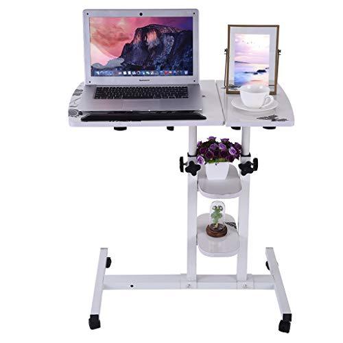 Sodoop Folding Computer Desk, Height Adjustable Student Laptop Desk and Mouse Desktop, Can Be Raised and Lowered Folding Computer Desk with Wheels for Home Office,64cm40cm