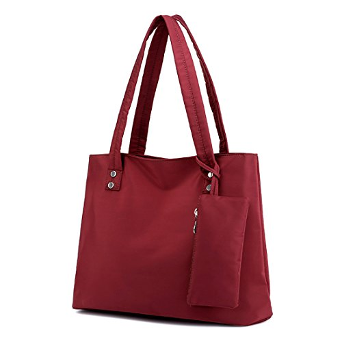 Alovhad Women Handbag Shoulder Bags Purse Waterproof Nylon Tote Travel hobo Bags Purse (Red) by Alovhad