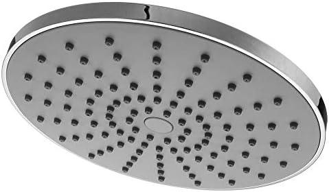 9インチラウンドレインシャワーヘッド、シリコンノズル付き圧力シャワーヘッド、広範囲のカバーボディ、高温耐性ABS素材