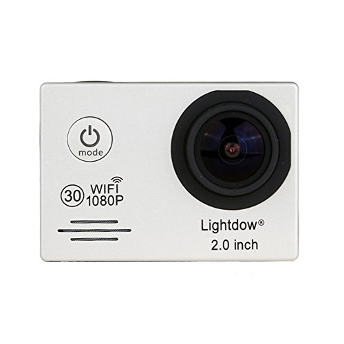 Lightdow LD6000 WiFi 1080P HD Sports Action Camera Bundle with DSP:Novatek NT96655 Chip, 2.0-Inch LTPS LCD, 170° Wide Angle Lens and Bonus Battery (Silver+WiFi) Action Cameras ZLY Technology