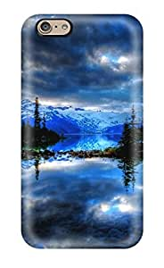 Cute Appearance Cover/tpu QVEjjOA16740MtqOm Reflection Earth Nature Reflection Case For Iphone 6
