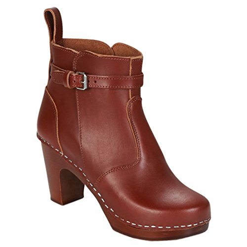 Marron Femme Brown Sole Heeled Bottines Jodhpur Hasbeens Swedish High Cognac Cognac wxYqT6CP