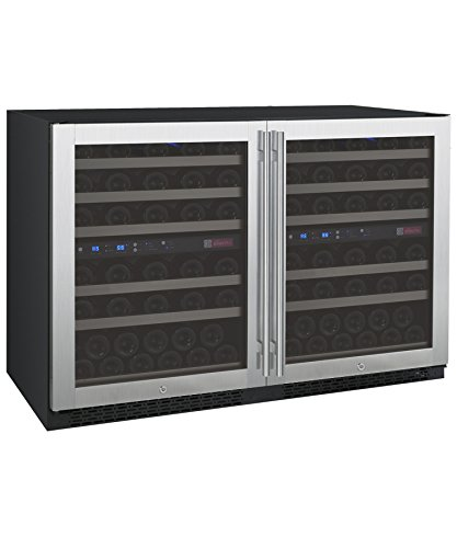 Allavino FlexCount 2X-VSWR56-2SST - 112 Bottle Multi-Zone Wine Refrigerator -...