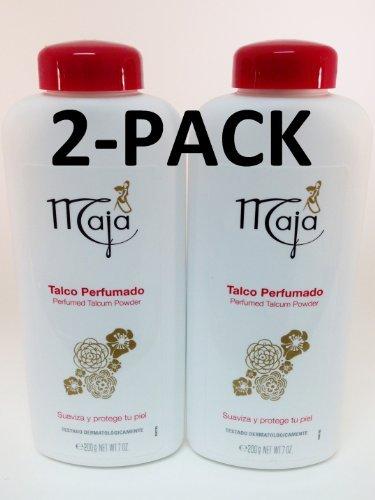 - Maja Perfumed Talcum Powder-Talco Perfumado 7 oz. 2-PACK