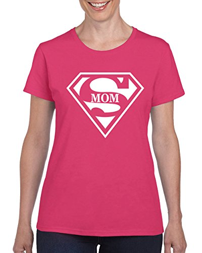 CAMALEN Super MOM Super Women Powerful T-Shirt for Women Round Neck Tee -