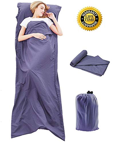 Goodlee Sleeping Bag Liner and Travel Sleep Sack ()
