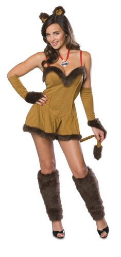 Lioness Halloween Costume (Cowardly Lioness Costume - Adult Costume - Small)