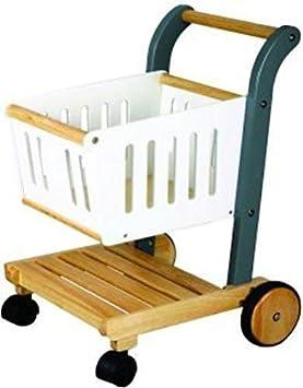 Estia 600131 Carrito de compras Tienda de juguete Madera turquesa/blanco: Amazon.es: Juguetes y juegos