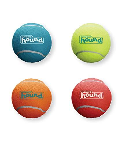 Outward Hound Squeaker Ballz Squeaky Tennis Ball Dog Toys