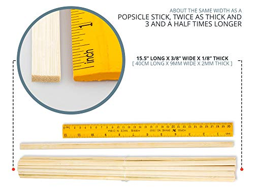 Bamboo Shop 2400 Extra Long Wooden Craft Sticks 15.5 Inches x 3/8 Inch. Food Grade. Natural Unfinished Popsicle Like Wood Strips for Crafts, Treats, Table Centerpieces, Coffee Stirrers by Bamboo Shop (Image #2)