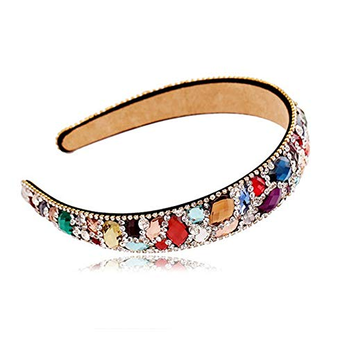 Viscose Collection Crystal (UnnieShop Luxury Colorful Crystal Hair Fashion Bands Rhinestone Headbands Women Hair Jewelry on)