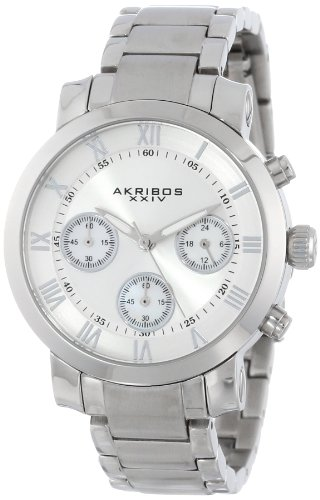 Quartz Movement Stainless Steel Bracelet - Akribos XXIV Women's AK623SS Grandiose Chronograph Stainless Steel Bracelet Watch