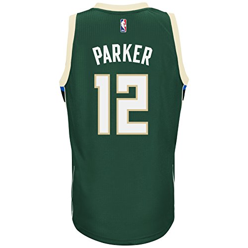 Jabari Parker Milwaukee Bucks Adidas Road Swingman Jersey Green (X-Large)